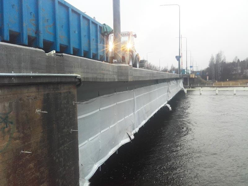 Tammisaari sillan korjausta