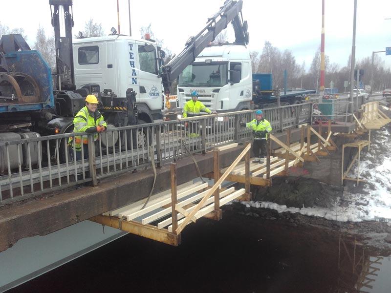 Tammisaari, sillan korjaus